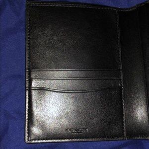 Coach Accessories - Coach Passport Holder In Signature Canvas